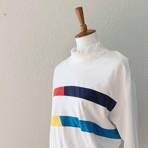 Vintage 90s Colorblock Mockneck Sweater